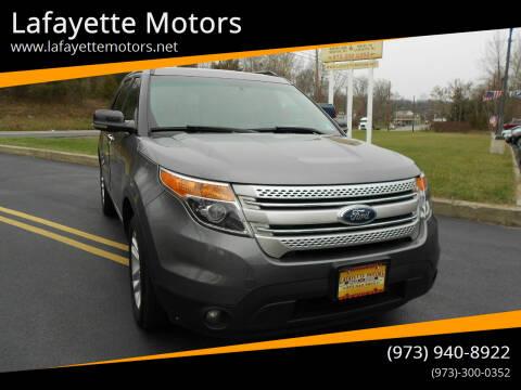 2013 Ford Explorer for sale at Lafayette Motors 2 in Andover NJ