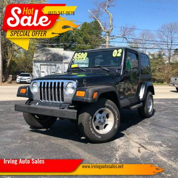 2002 Jeep Wrangler for sale at Irving Auto Sales in Whitman MA