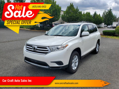 2011 Toyota Highlander for sale at Car Craft Auto Sales Inc in Lynnwood WA