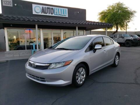 2012 Honda Civic for sale at Auto Hall in Chandler AZ