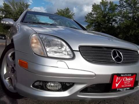 2003 Mercedes-Benz SLK for sale at 1st Choice Auto Sales in Fairfax VA