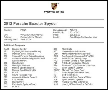 2012 Porsche Boxster for sale at RAC Performance in Carrollton TX