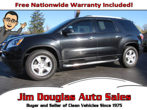 2012 GMC Acadia for sale at Jim Douglas Auto Sales in Pontiac MI