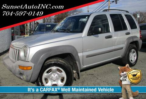 2004 Jeep Liberty for sale at Sunset Auto in Charlotte NC
