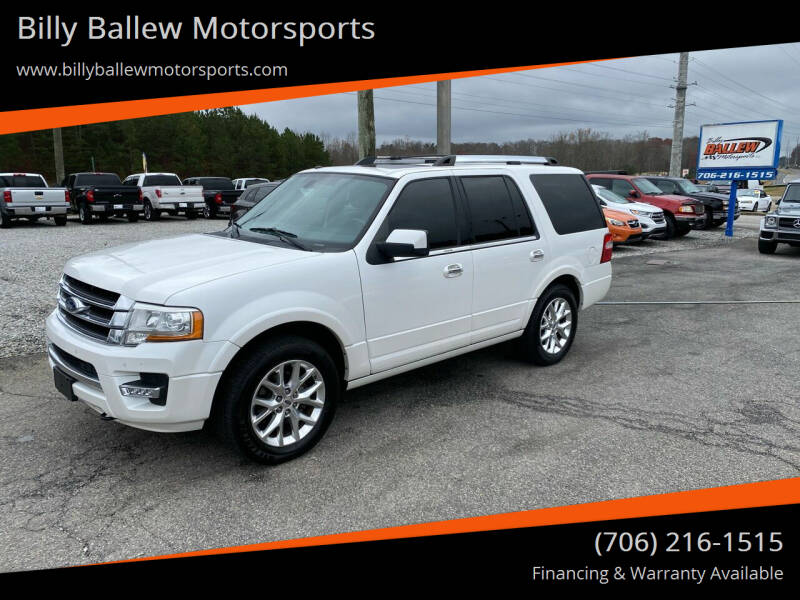 2015 Ford Expedition for sale at Billy Ballew Motorsports in Dawsonville GA