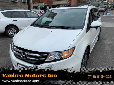 2014 Honda Odyssey for sale at Vanbro Motors Inc in Staten Island NY