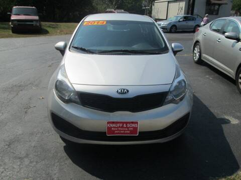 2014 Kia Rio for sale at Knauff & Sons Motor Sales in New Vienna OH