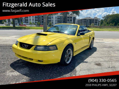 2002 Ford Mustang for sale at Fitzgerald Auto Sales in Jacksonville FL