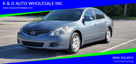 2010 Nissan Altima for sale at K & O AUTO WHOLESALE INC in Jacksonville FL