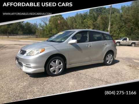 2004 Toyota Matrix for sale at AFFORDABLE USED CARS in Richmond VA