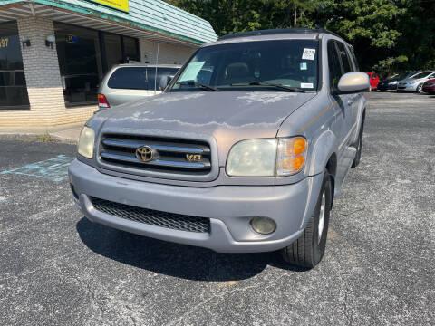 2001 Toyota Sequoia for sale at Diana Rico LLC in Dalton GA