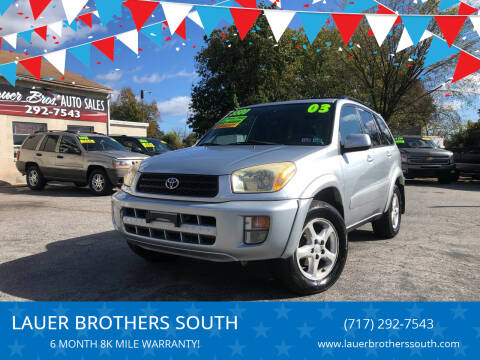 2003 Toyota RAV4 for sale at LAUER BROTHERS SOUTH in York PA