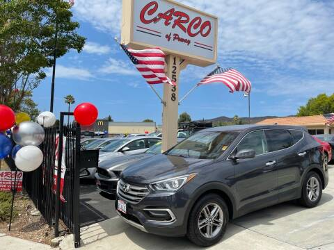 2017 Hyundai Santa Fe Sport for sale at CARCO SALES & FINANCE - CARCO OF POWAY in Poway CA