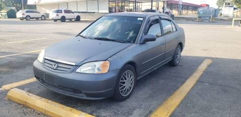 2002 Honda Civic for sale at C.J. AUTO SALES llc. in San Antonio TX