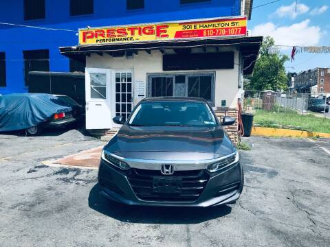 2018 Honda Accord for sale at PRESTIGE PERFORMANCE in Allentown PA