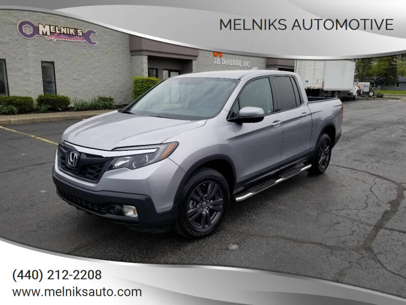 2019 Honda Ridgeline for sale at Melniks Automotive in Berea OH