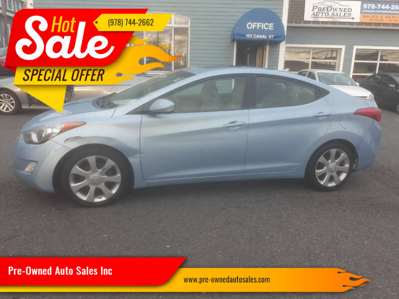 2012 Hyundai Elantra for sale at Pre-Owned Auto Sales Inc in Salem MA