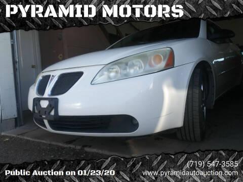 2008 Pontiac G6 for sale at PYRAMID MOTORS - Pueblo Lot in Pueblo CO