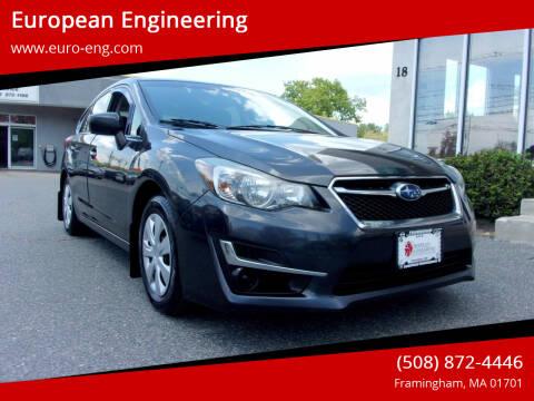 2015 Subaru Impreza for sale at European Engineering in Framingham MA