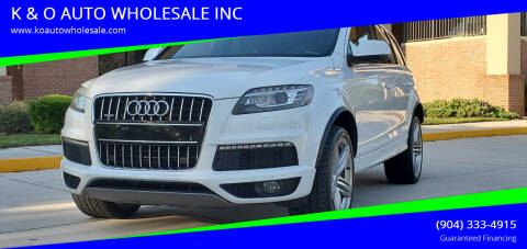2014 Audi Q7 for sale at K & O AUTO WHOLESALE INC in Jacksonville FL