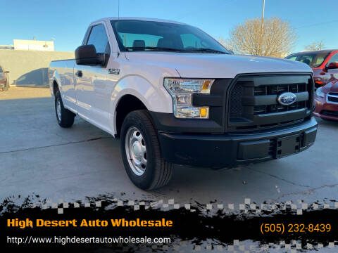 2016 Ford F-150 for sale at High Desert Auto Wholesale in Albuquerque NM