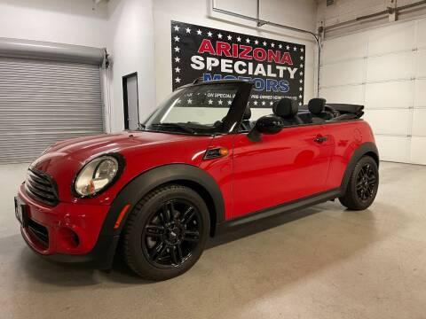 2014 MINI Convertible for sale at Arizona Specialty Motors in Tempe AZ