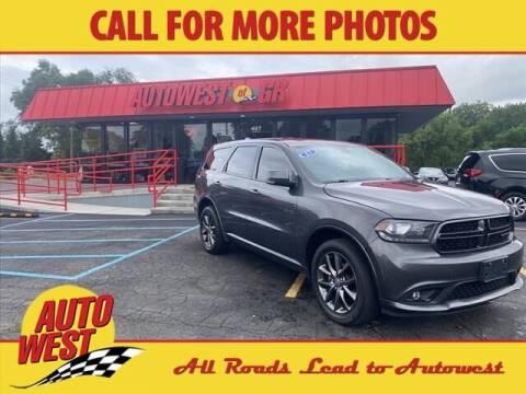 2017 Dodge Durango for sale at Autowest of Plainwell in Plainwell MI