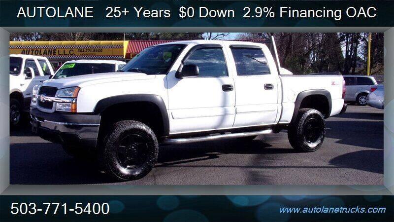 2005 Chevrolet Silverado 1500 for sale at Auto Lane in Portland OR