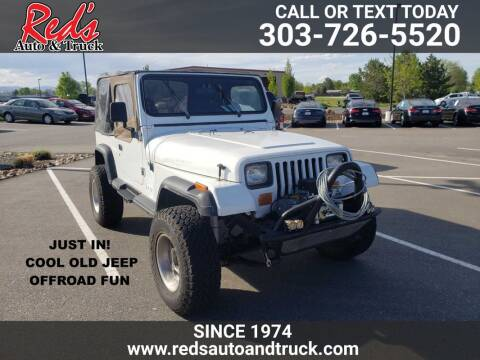 1990 Jeep Wrangler for sale at Red's Auto and Truck in Longmont CO