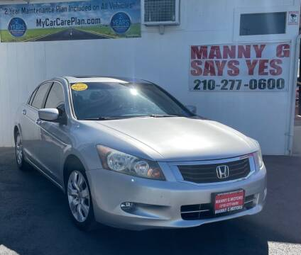 2009 Honda Accord for sale at Manny G Motors in San Antonio TX