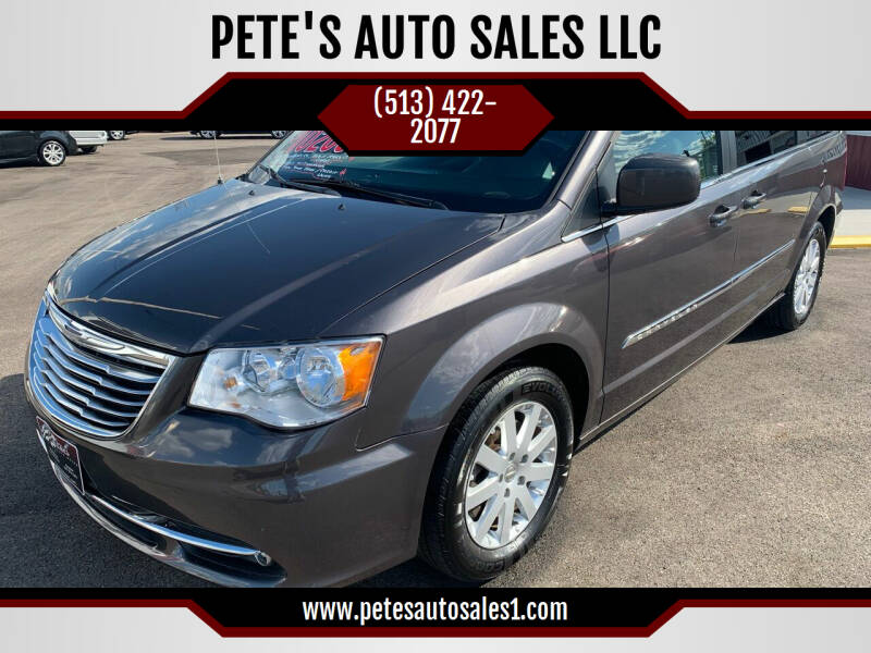 2016 Chrysler Town and Country for sale at PETE'S AUTO SALES LLC - Middletown in Middletown OH