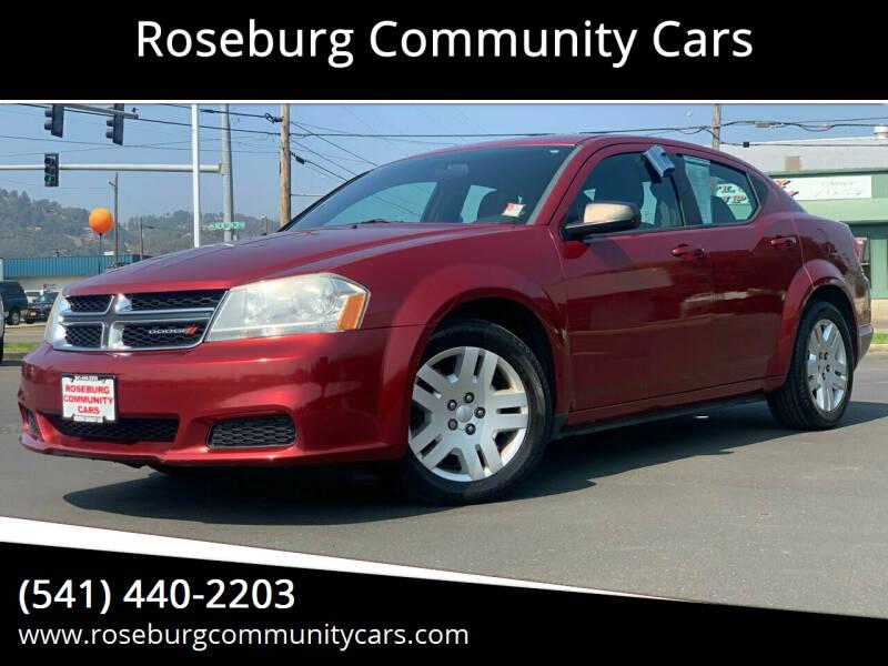 2014 Dodge Avenger for sale at Roseburg Community Cars in Roseburg OR