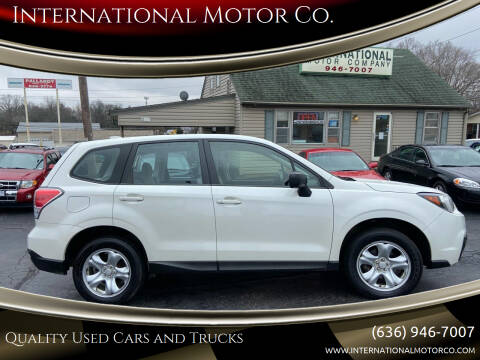 2018 Subaru Forester for sale at International Motor Co. in St. Charles MO