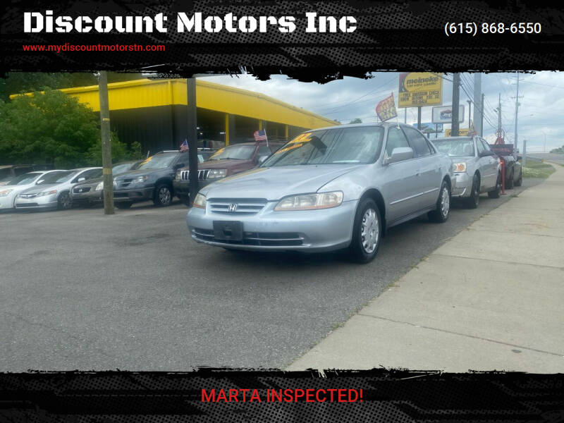 2002 Honda Accord for sale at Discount Motors Inc in Madison TN