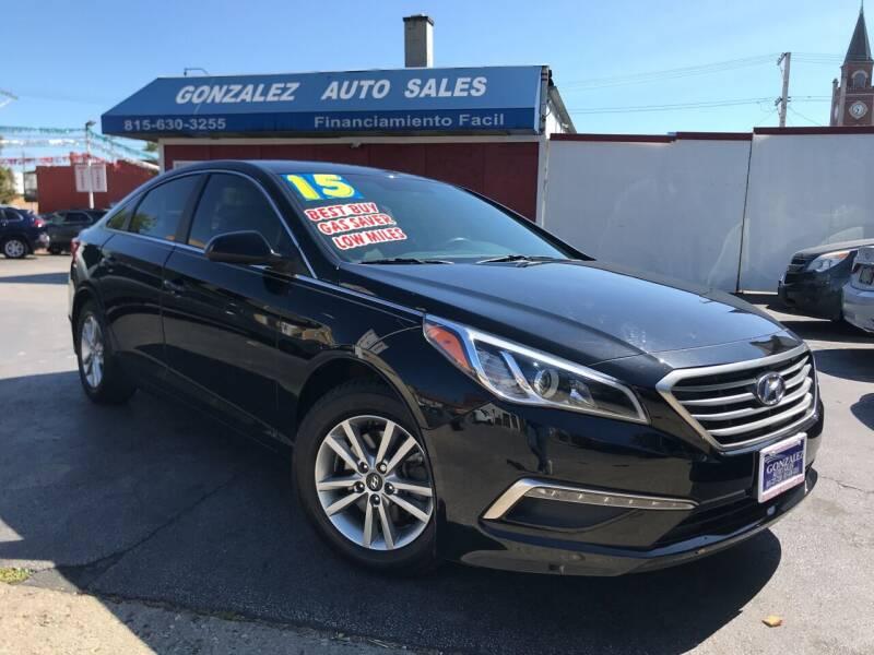 2015 Hyundai Sonata for sale at Gonzalez Auto Sales in Joliet IL