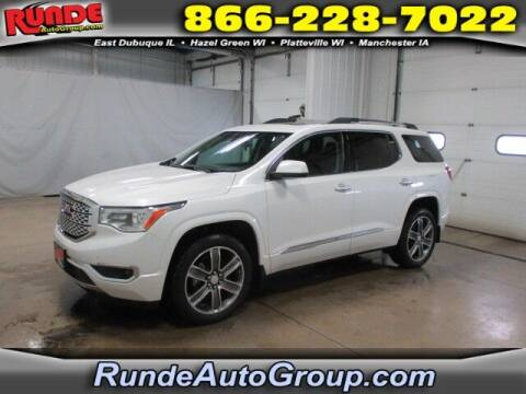 2018 GMC Acadia for sale at Runde Chevrolet in East Dubuque IL