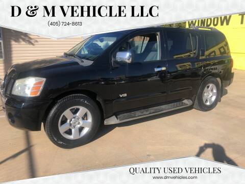 2007 Nissan Armada for sale at D & M Vehicle LLC in Oklahoma City OK