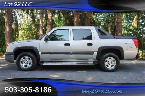 2004 Chevrolet Avalanche for sale at LOT 99 LLC in Milwaukie OR