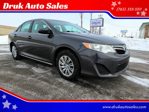 2012 Toyota Camry for sale at Druk Auto Sales in Ramsey MN