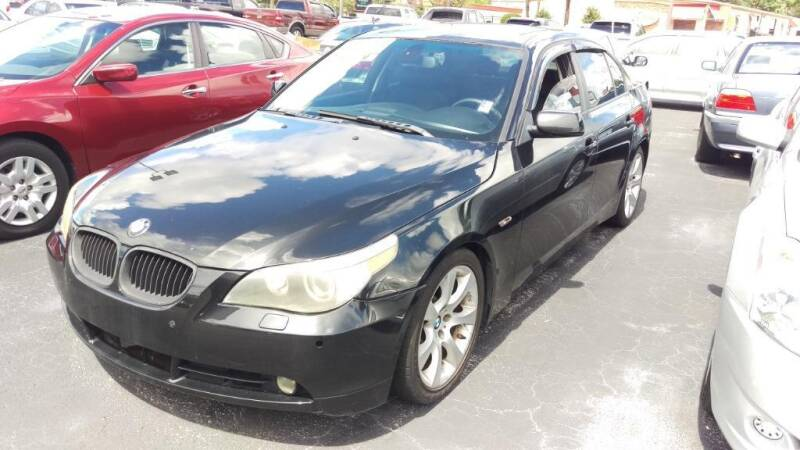 2007 BMW 5 Series for sale at Tony's Auto Sales in Jacksonville FL