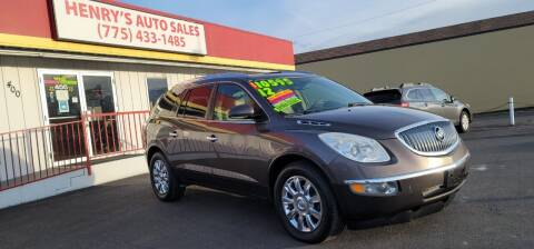 2012 Buick Enclave for sale at Henry's Autosales, LLC in Reno NV