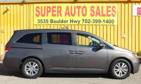 2014 Honda Odyssey for sale at Super Auto Sales in Las Vegas NV