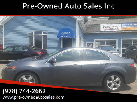 2009 Acura TSX for sale at Pre-Owned Auto Sales Inc in Salem MA