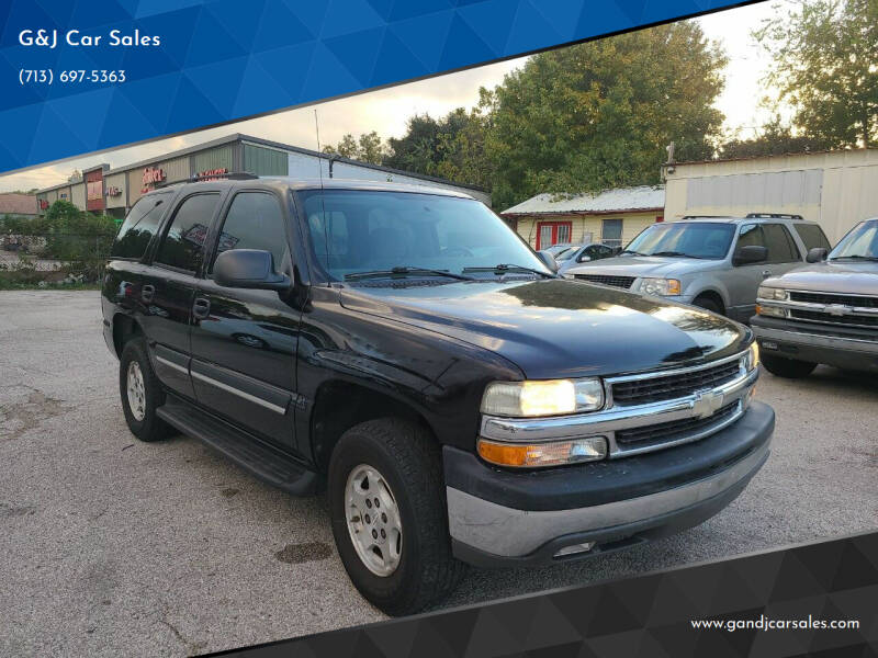 2004 Chevrolet Tahoe for sale at G&J Car Sales in Houston TX