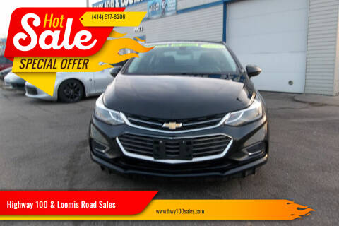 2016 Chevrolet Cruze for sale at Highway 100 & Loomis Road Sales in Franklin WI