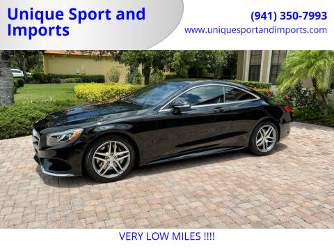 2015 Mercedes-Benz S-Class for sale at Unique Sport and Imports in Sarasota FL
