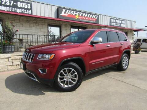 2015 Jeep Grand Cherokee for sale at Lightning Motorsports in Grand Prairie TX