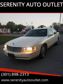 1998 Cadillac DeVille for sale at SERENITY AUTO OUTLET in Frederick MD