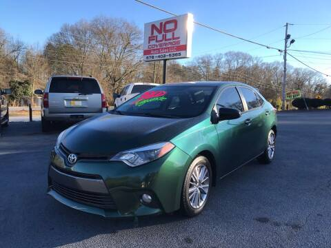 2015 Toyota Corolla for sale at No Full Coverage Auto Sales in Austell GA