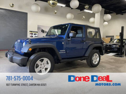 2010 Jeep Wrangler for sale at DONE DEAL MOTORS in Canton MA